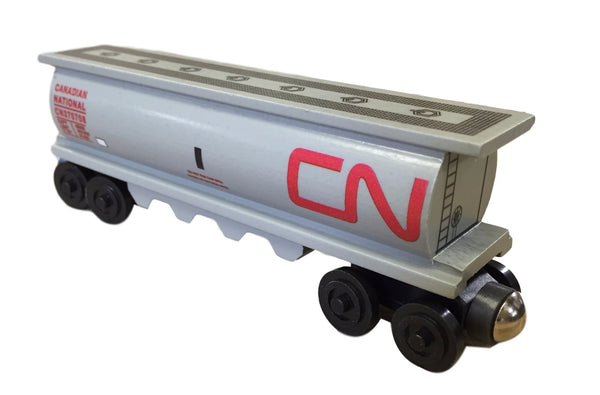 Whittle Shortline Railroad Canada National Gray Cylinder Hopper Wooden Toy Train
