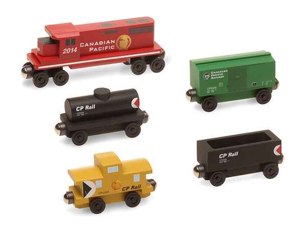 Whittle Shortline Railroad Canadian Pacific 5 pc. GP-38 Diesel Engine Set Wooden Toy Train