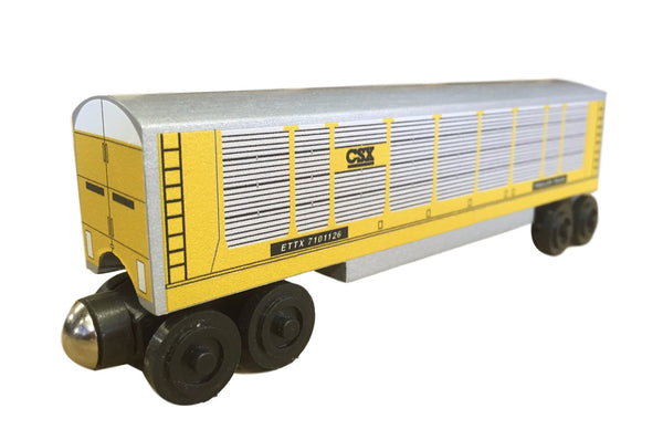 Whittle Shortline Railroad 2017 CSX Autorack Wooden Toy Train