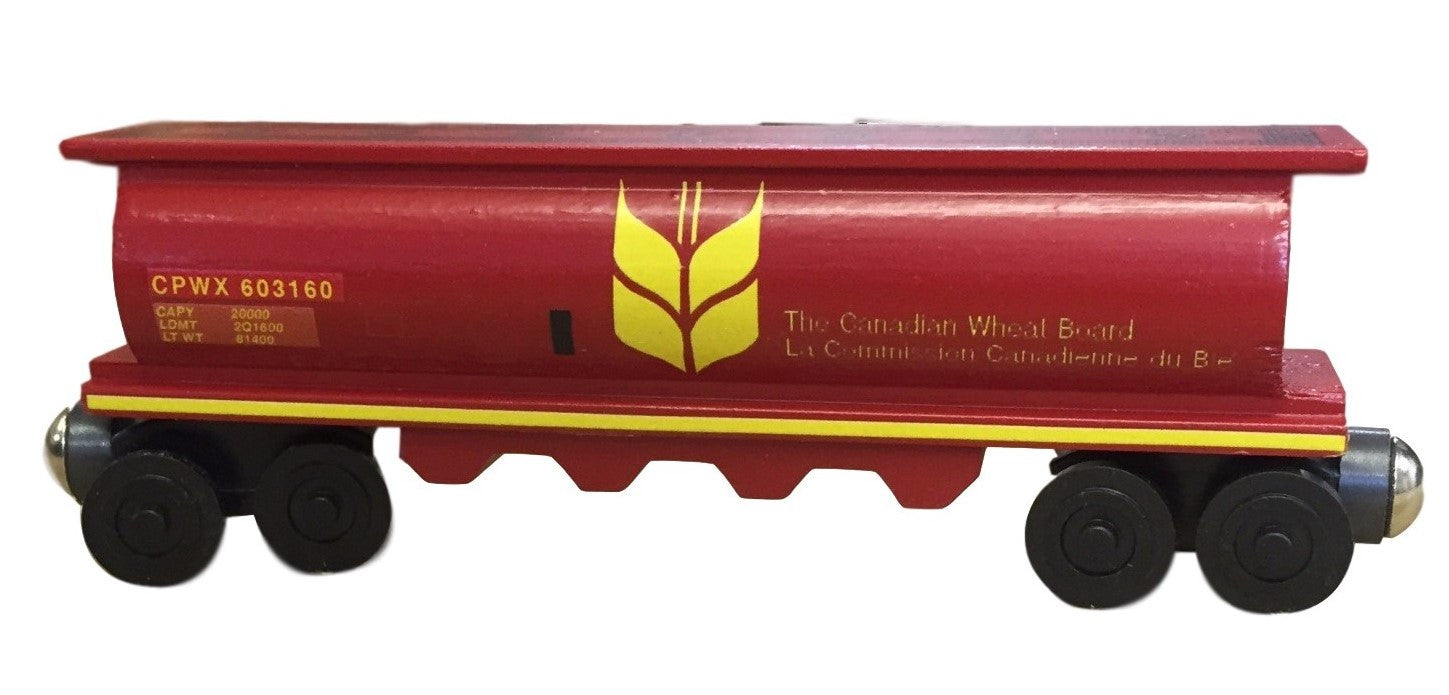Whittle Shortline Railroad Canada Wheat 2 Cylinder Hopper Wooden Toy Train