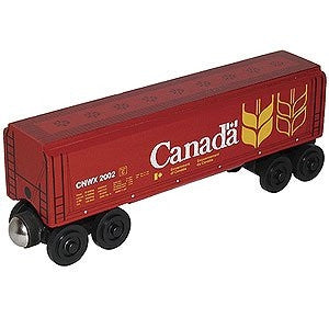 Whittle Shortline Railroad Canada Wheat Covered Hopper Wooden Toy Train