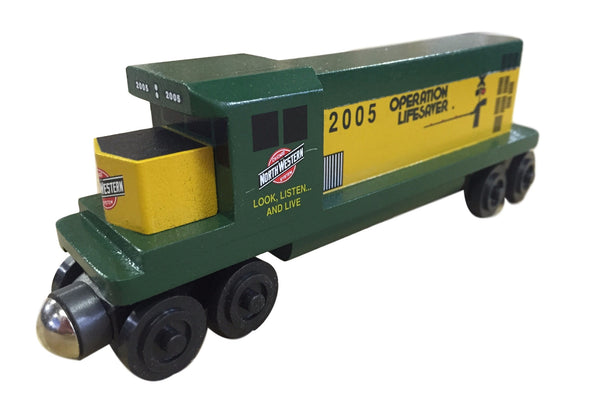 Whittle Shortline Railroad Chicago and Northwestern GP-38 Diesel Engine Wooden Toy Train