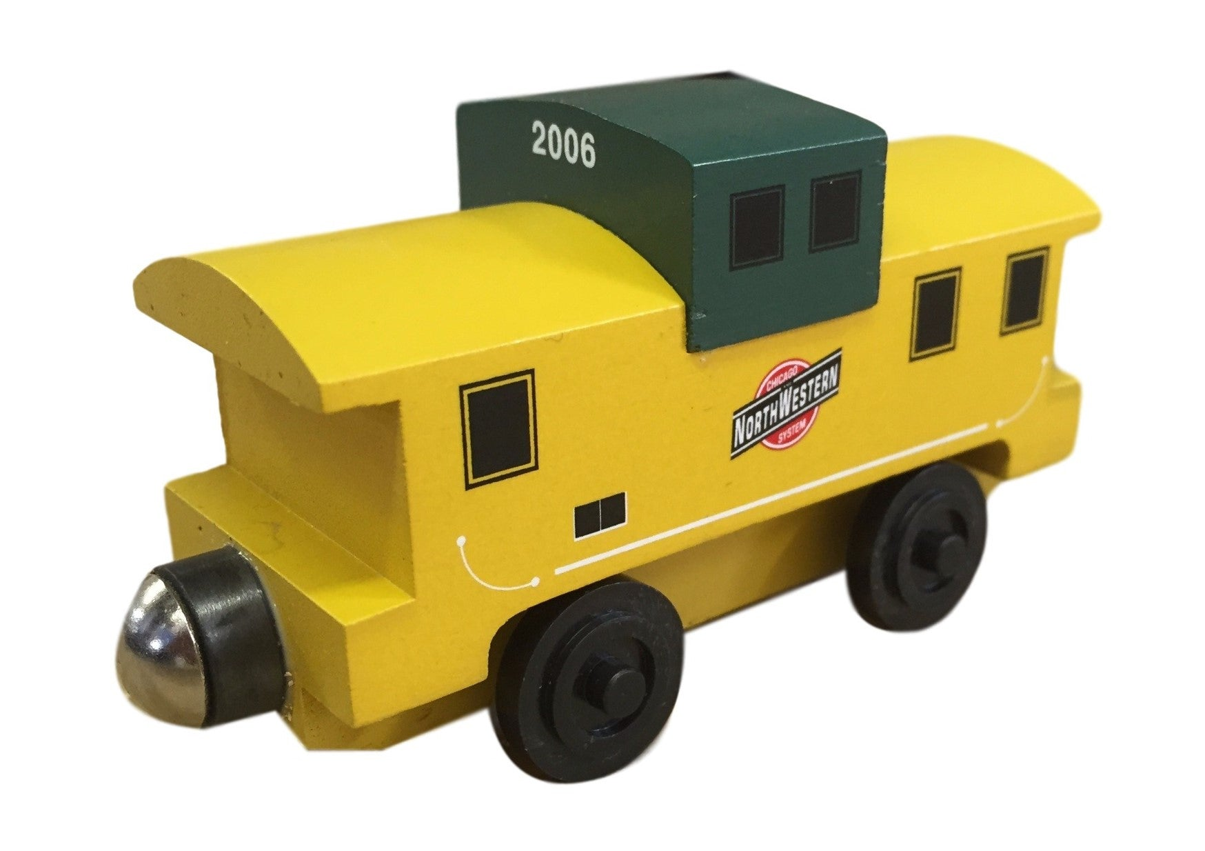 Whittle Shortline Railroad Chicago and Northwestern Caboose Wooden Toy Train
