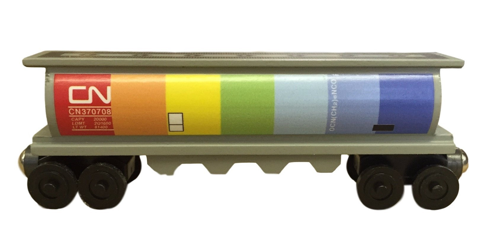 Whittle Shortline Railroad Canadian National Rainbow Gray Cylinder Hopper