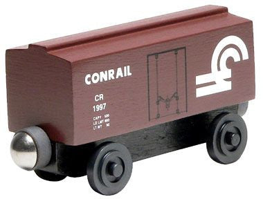 Whittle Shortline Railroad Conrail Boxcar Wooden Toy Train