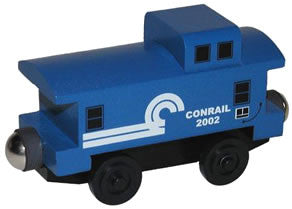 Whittle Shortline Railroad Conrail Caboose Wooden Toy Train