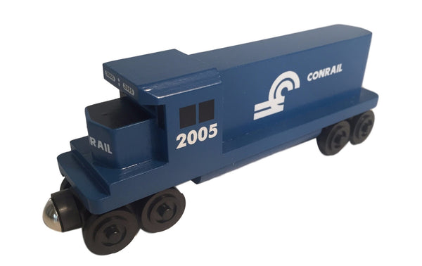 Whittle Shortline Railroad GP-38 Conrail Diesel Engine Wooden Toy Train