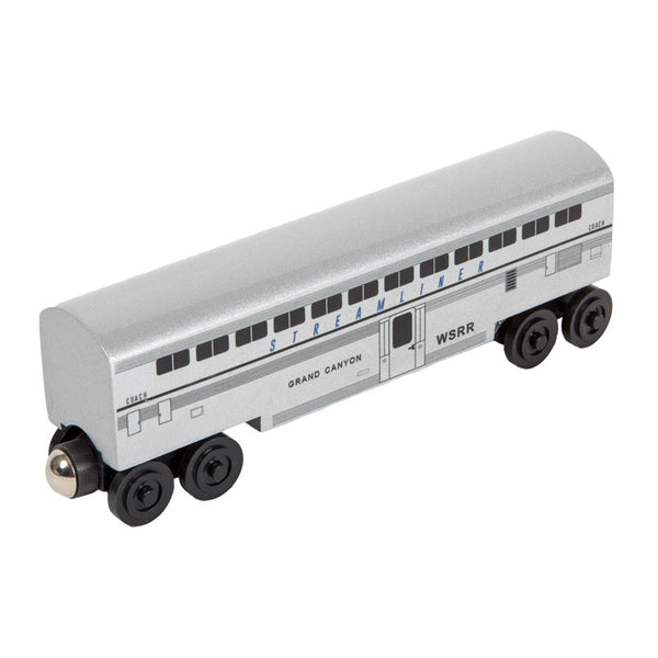 Whittle Shortline Railroad Streamliner Grand Canyon Passenger Coach Wooden Toy Train
