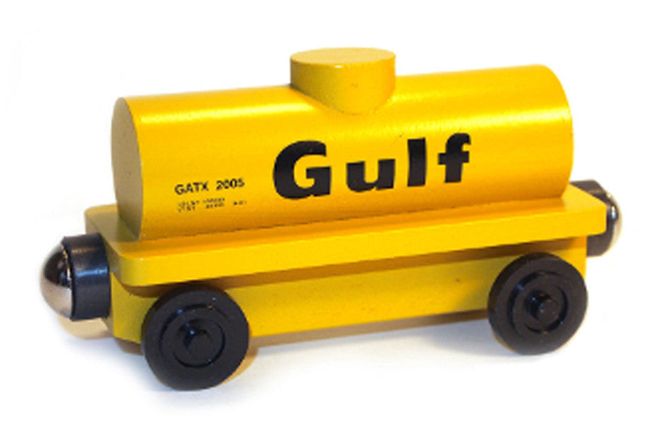 Whittle Shortline Railroad Gulf Tanker Car Wooden Toy Train