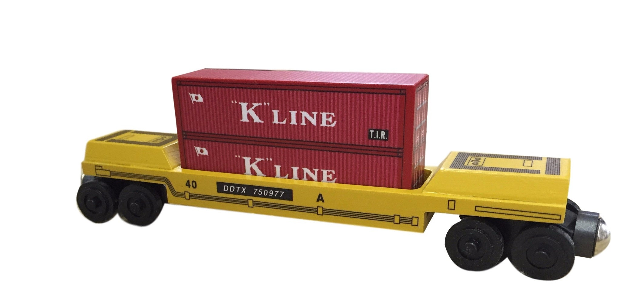 Whittle Shortline Railroad K-Line Doublestack Car Wooden Toy Train