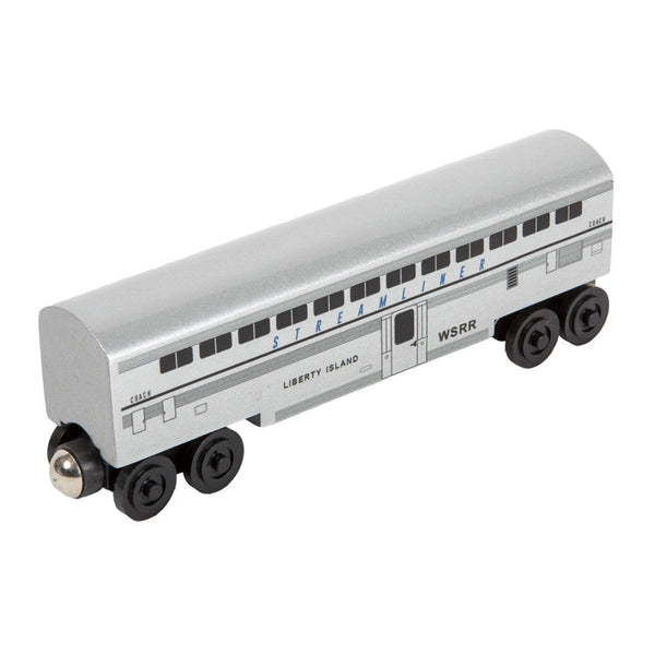 Whittle Shortline Railroad Streamliner Liberty Island Passenger Coach Wooden Toy Train