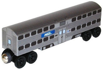 Whittle Shortline Railroad Metra Passenger Coach Wooden Toy Train