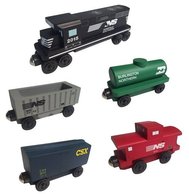 Whittle Shortline Railroad Norfolk Southern 5 pc. Railway Set Wooden Toy Train