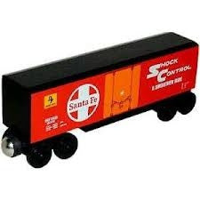 Whittle Shortline Railroad Santa Fe Red Hi-Cube Boxcar Wooden Toy Train