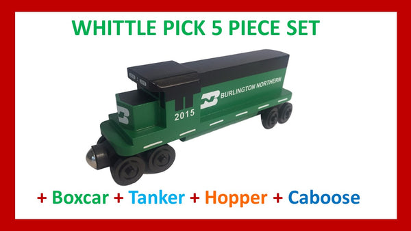 Burlington Northern - Whittle Pick 5 Piece Diesel Engine Set