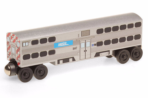 Whittle Shortline Railroad Metra Passenger Cab Wooden Toy Train
