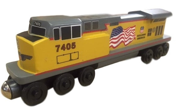 Whittle Shortline Railroad Union Pacific C-44 Diesel Engine Wooden Toy Train