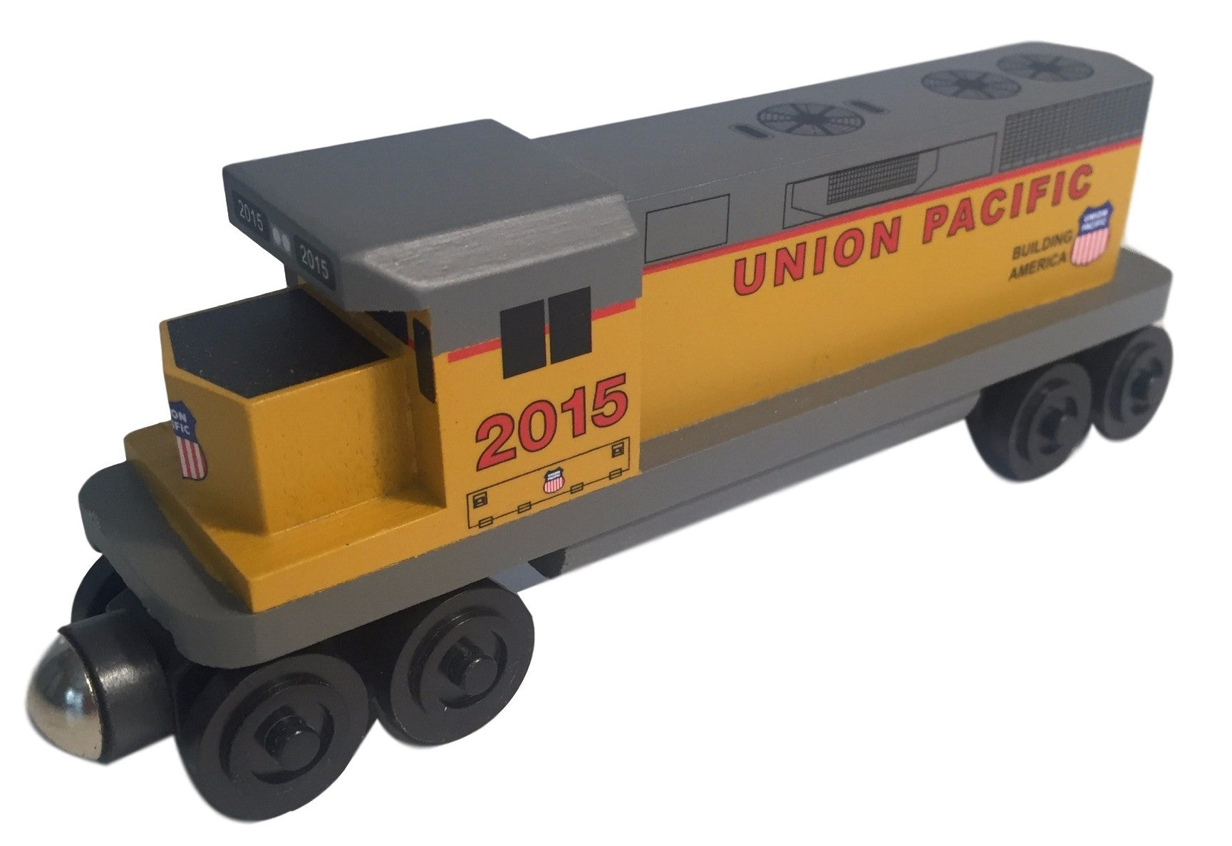 Whittle Shortline Railroad Union Pacific GP-38 Diesel Engine Wooden Toy Train