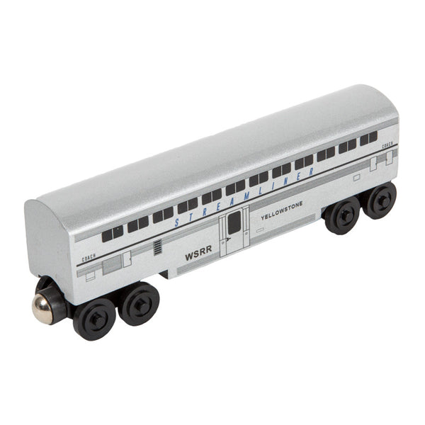 Whittle Shortline Railroad Streamliner Yellowstone Passenger Coach Wooden Toy Train