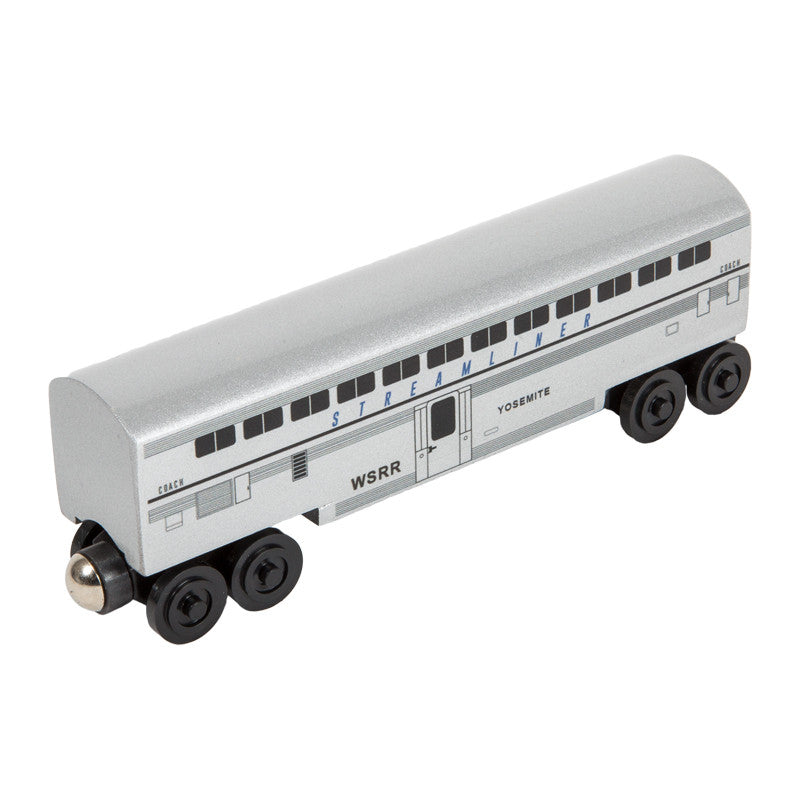 Whittle Shortline Railroad Streamliner Yosemite Passenger Coach Wooden Toy Train
