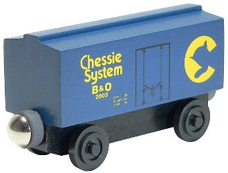 Whittle Shortline Railroad Chessie Boxcar Wooden Toy Train