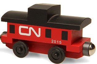 Whittle Shortline Railroad Canadian National Caboose Wooden Toy Train