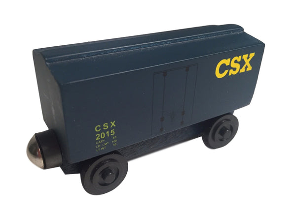 Whittle Shortline Railroad CSX Boxcar Wooden Toy Train
