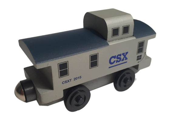 Whittle Shortline Railroad CSX Caboose Wooden Toy Train