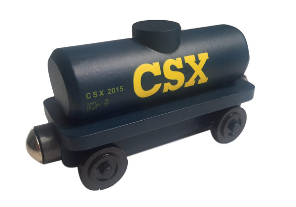 Whittle Shortline Railroad CSX Tanker Car Wooden Toy Train