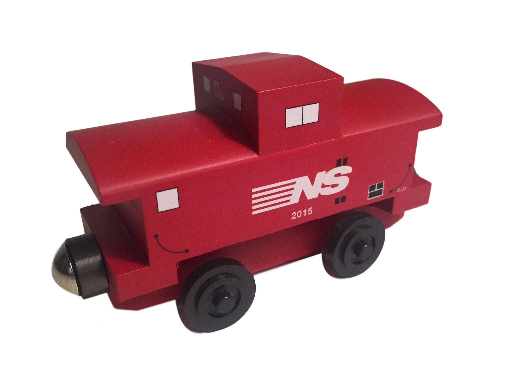 Whittle Shortline Railroad Norfolk Southern Caboose Wooden Toy Train