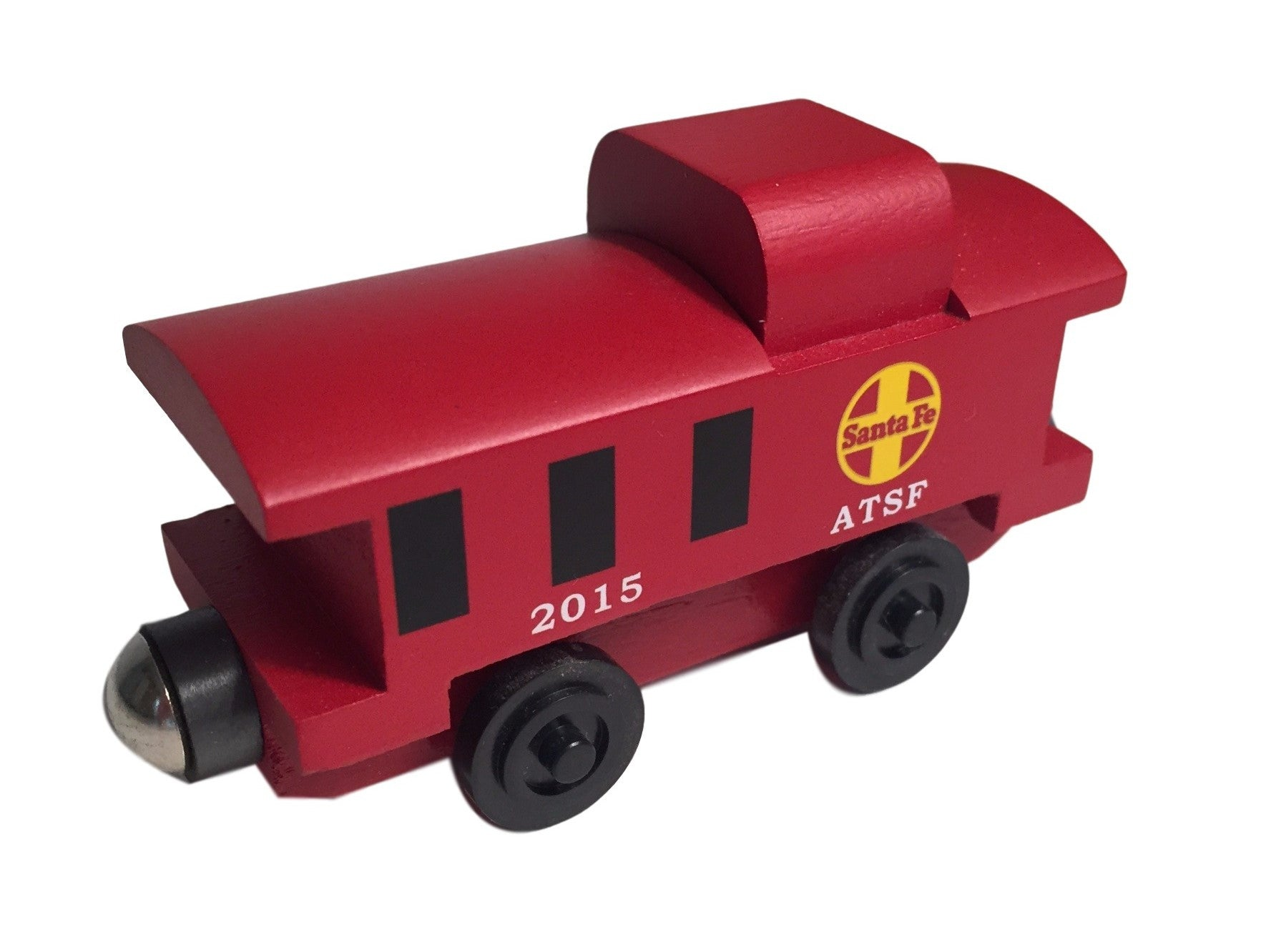 Whittle Shortline Railroad Santa Fe Caboose Wooden Toy Train