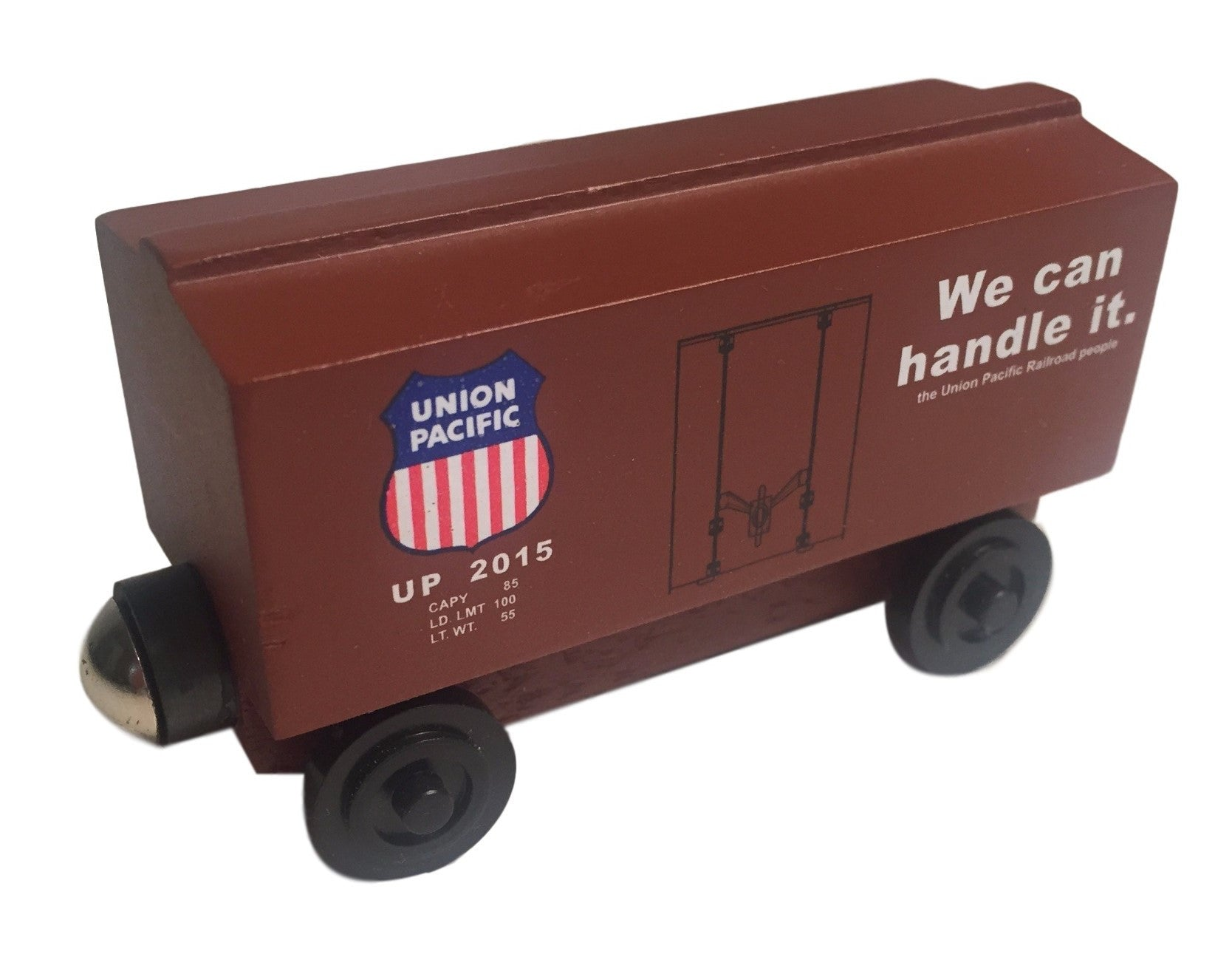 Whittle Shortline Railroad Union Pacific Boxcar Wooden Toy Train