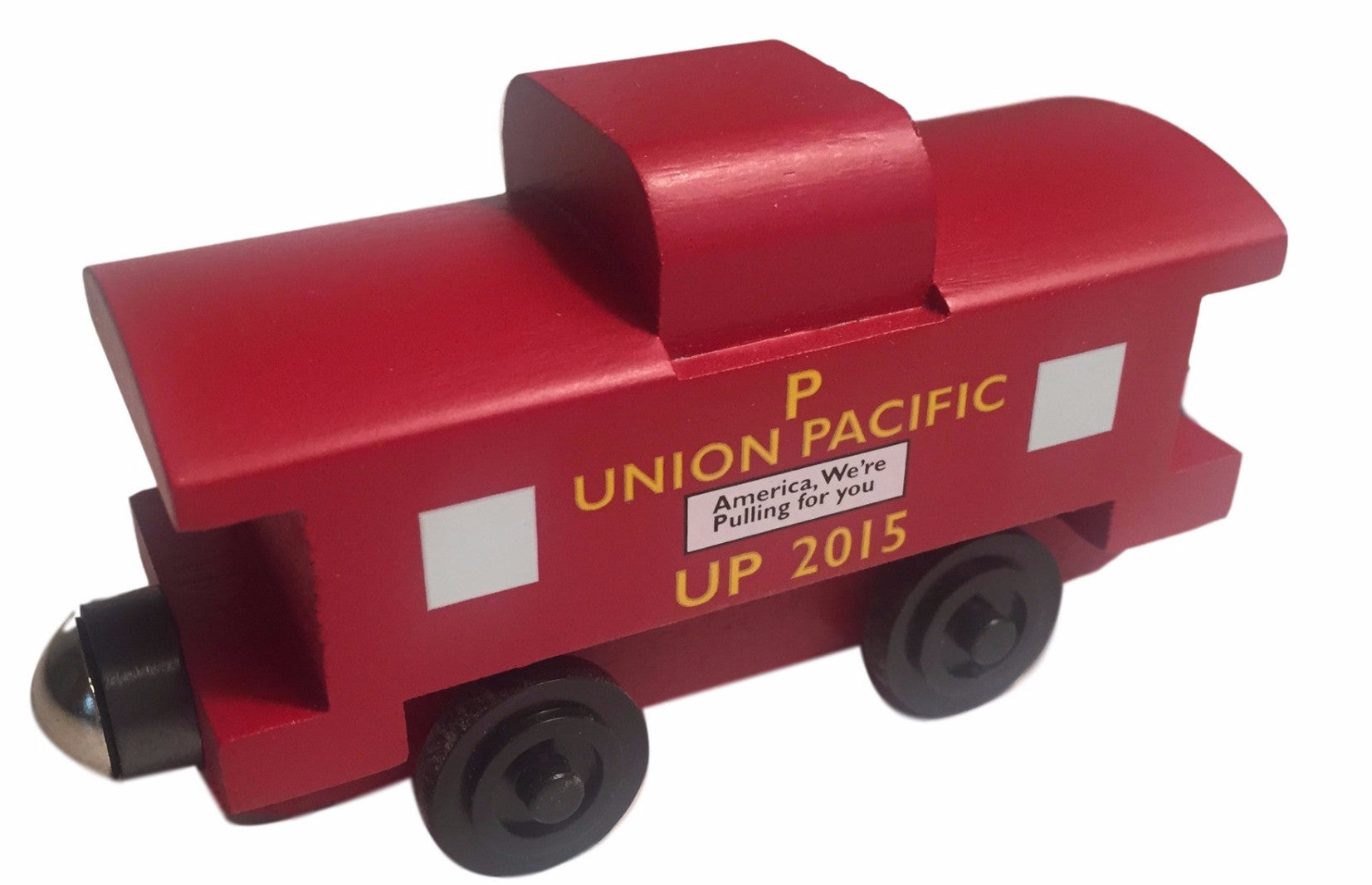 Whittle Shortline Railroad Union Pacific Caboose Wooden Toy Train