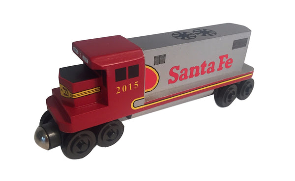 Whittle Shortline Railroad Santa Fe Warbonnet GP-38 Diesel Engine Wooden Toy Train