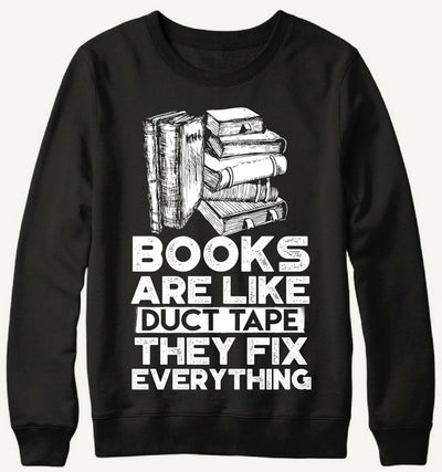 Books Duct Tape Sweater