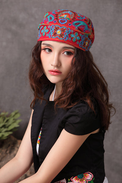 Embroidery Ethnic Beanie