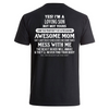 Loving son, property of an awesome mom- Backprint