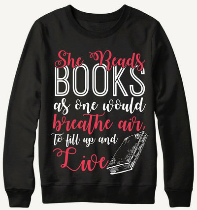 She Reads Books Sweater