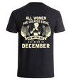 Best women are born in December- Backprint