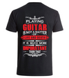 Playing guitar is much more- red - Backprint