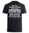 Stubborn daughter, Awesome mom- Backprint