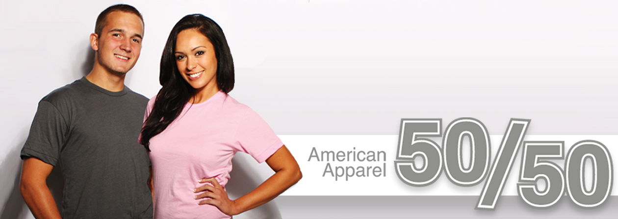 Our Custom American Apparel 50/50 t-shirts FLY w/ Vintage Ink