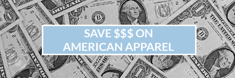 Save Money on Custom American Apparel T-Shirts!