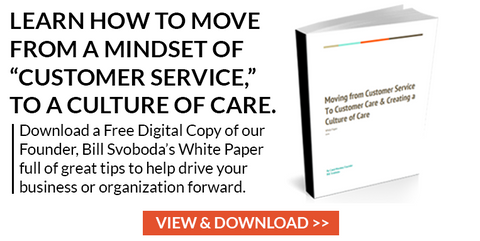 Bill Svoboda How to Move from Customer Service to Customer Care White Paper