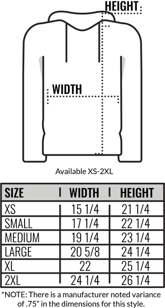 Custom American Apparel F497 Hooded Sweatshirt Size Chart by Coed Monkey