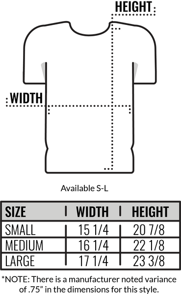 Custom Canvas 50/25/25 Youth T-Shirt Size Chart by Coed Monkey