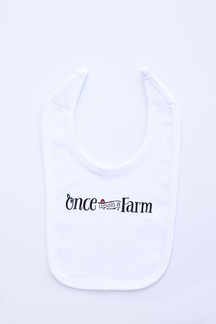 White Once Upon a Farm Bib