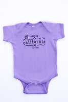 Lavender Made in California One-Piece Snap Tee