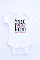White Once Upon a Farm One-Piece Snap Tee