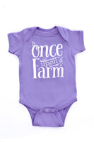 Lavender Once Upon a Farm One-Piece Snap Tee